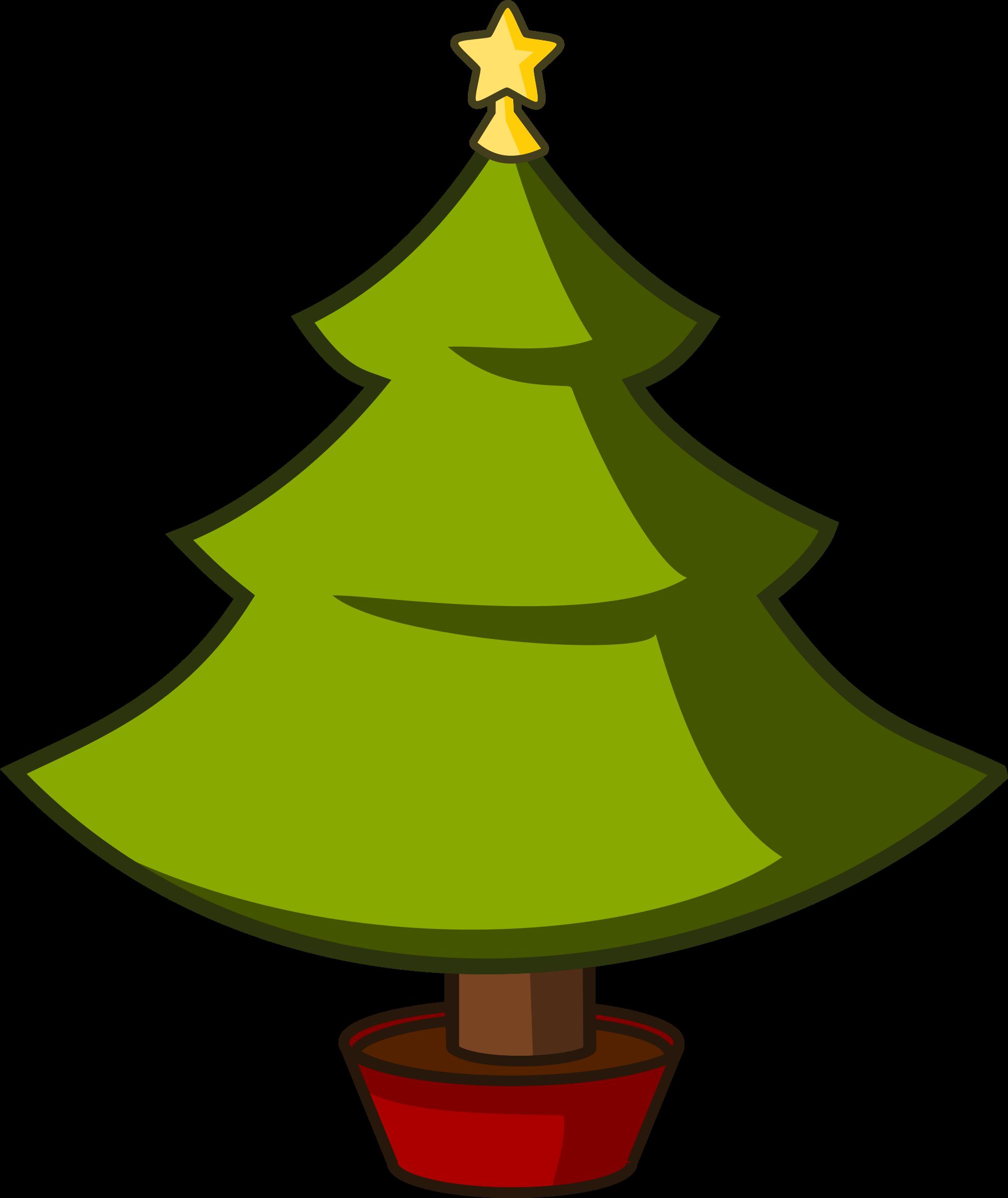 Transparent christmas tree clipart - Cartoon Christmas Tree Clip Art - Simple Cartoon Christmas Tree