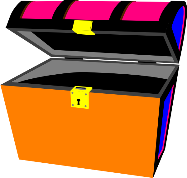 Transparent treasure chest clip art - Clipart Of Open, Clipart Open And Empty Treasure Chest