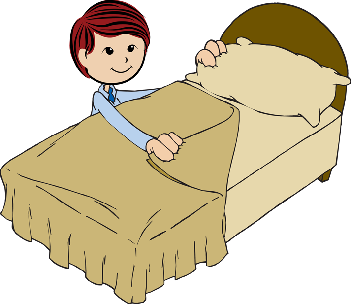 Transparent bed clip art - Make My Bed Clipart - Make Your Bed Cartoon