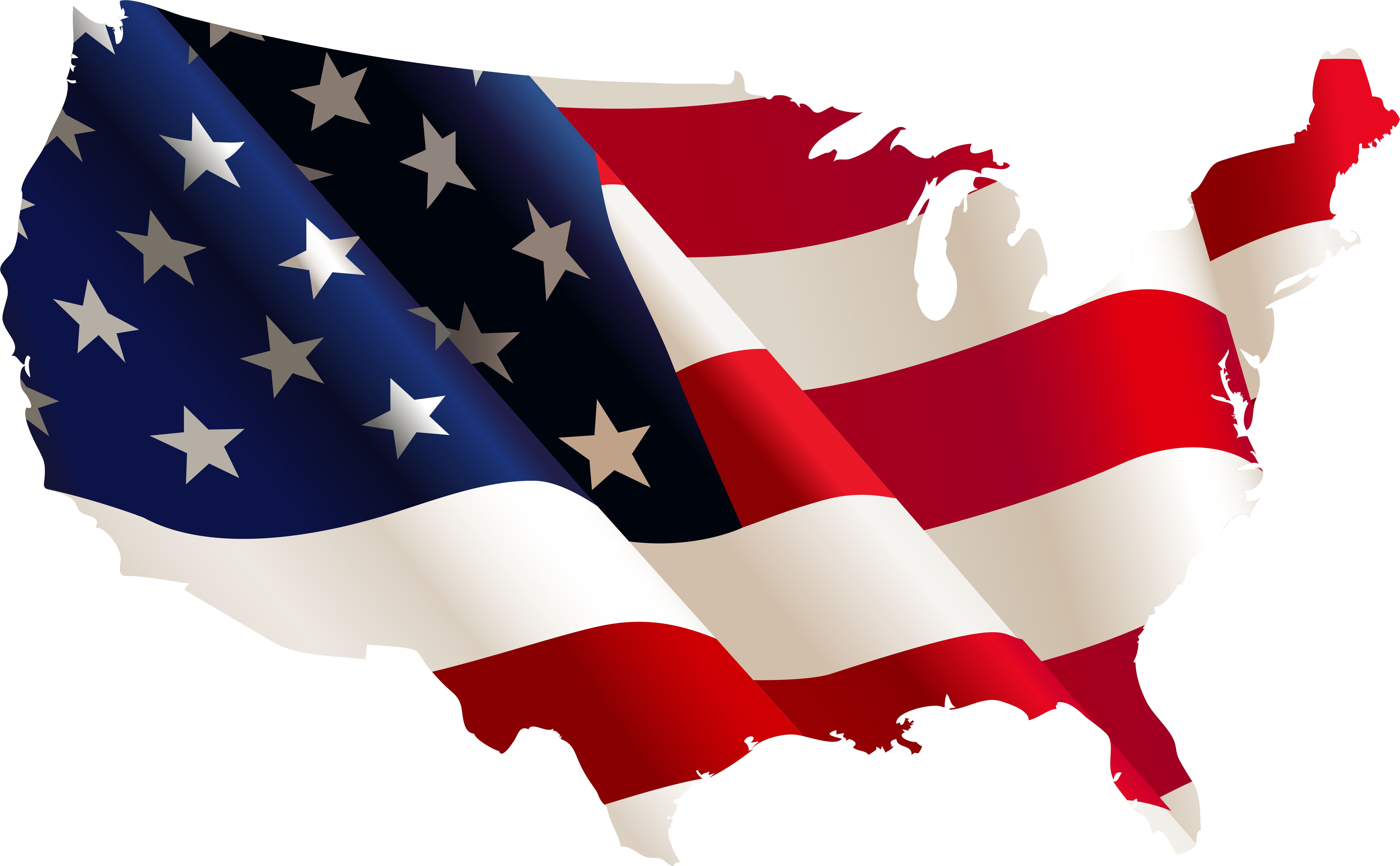American Flag Clipart - Us Flag Country Shape , Transparent