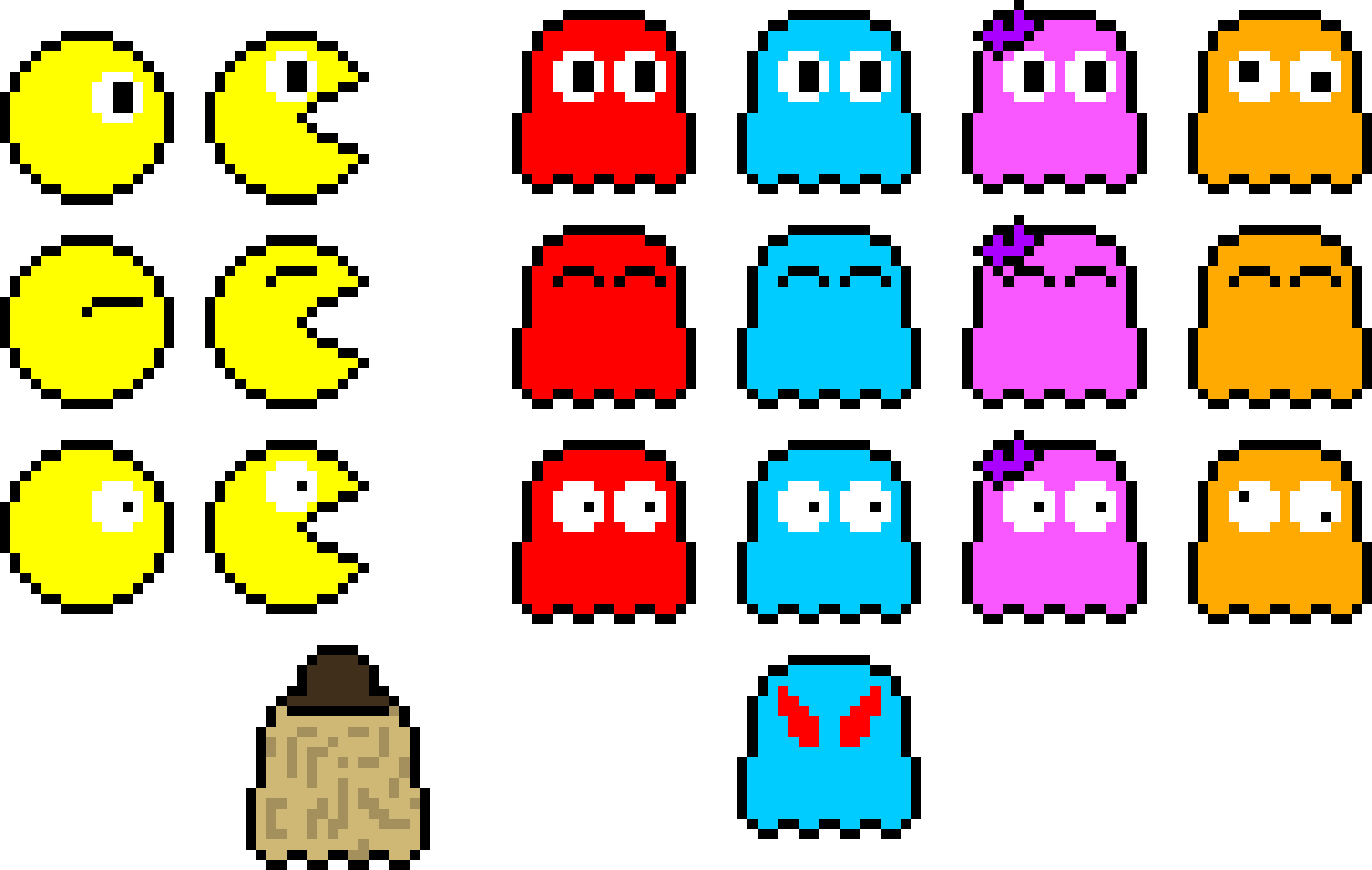 Pac Man Apella Pixel Art Maker Pacapella Ⓒ - Pac Man Pixel