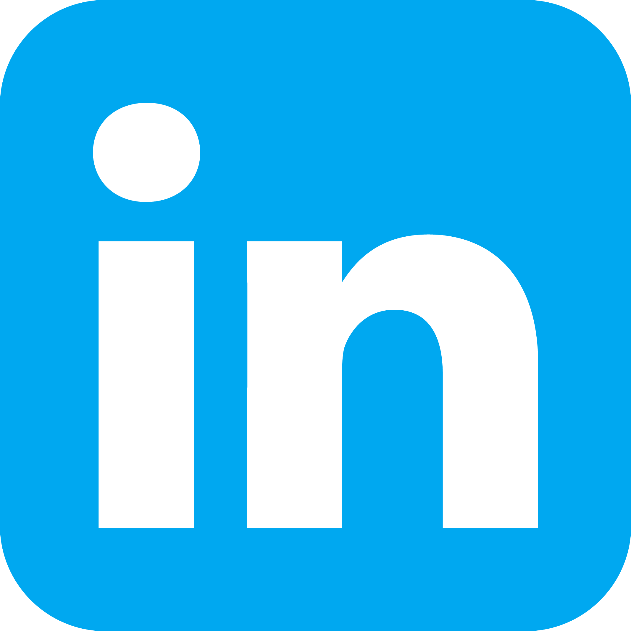 Connect With Us Linkedin Icon White Background