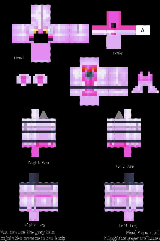 Transparent fnaf clipart - Xenomorph Clipart Fnaf - Minecraft Fnaf Sister Location Ballora Skin