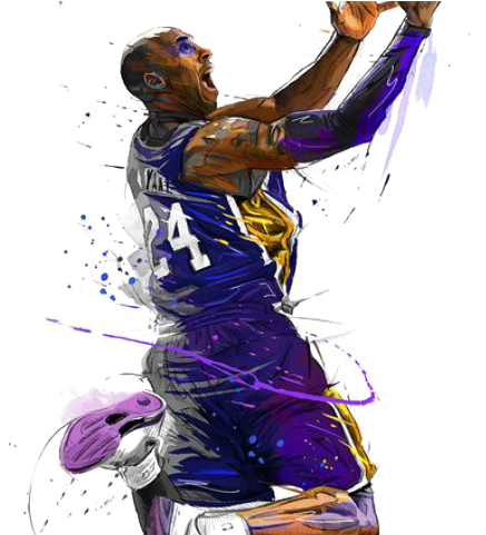Drawn Wallpaper Basketball Kobe Bryant Poster Transparent Cartoon Jing Fm
