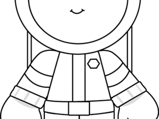 graphic regarding Rocket Ship Printable named Spacesuit Clipart Black And White - Printable Rocket Send