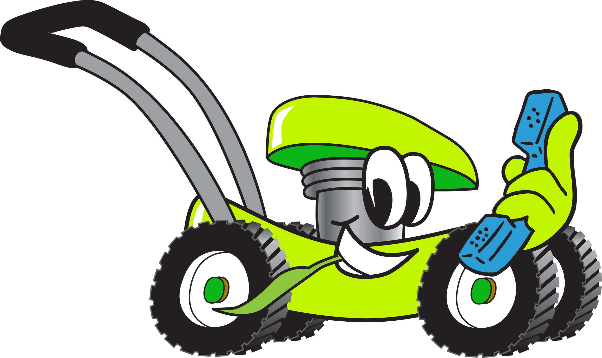 Transparent tire tread clipart - Cartoon Lawn Mower Clip Art