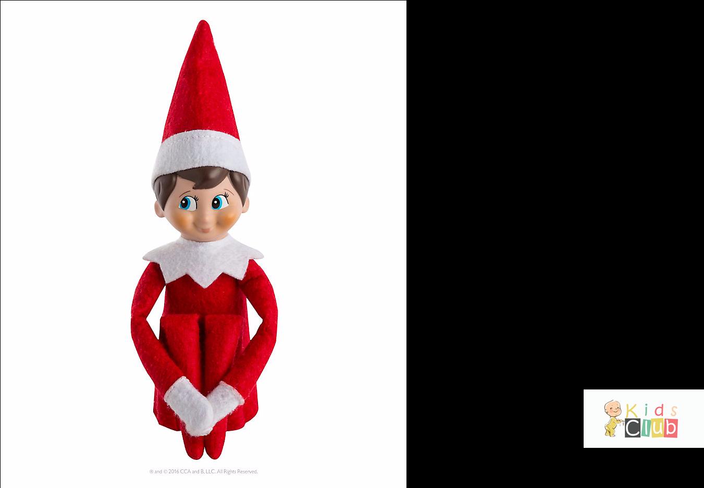 Transparent elf on the shelf clipart black and white - Christmas Elf