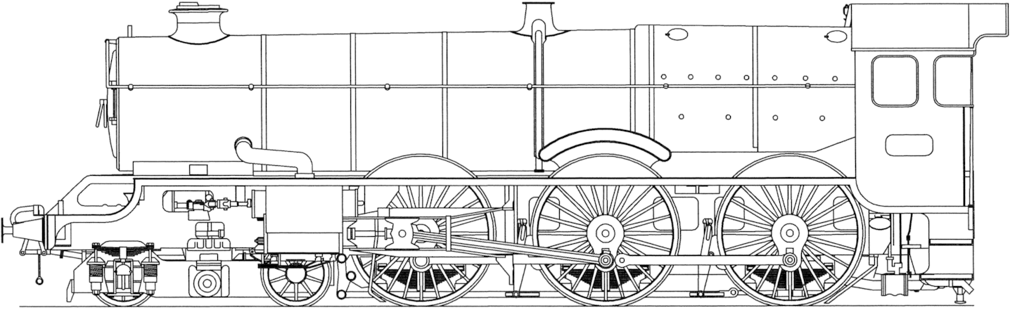Drawing Steam Engine Transparent Png Clipart Free Download