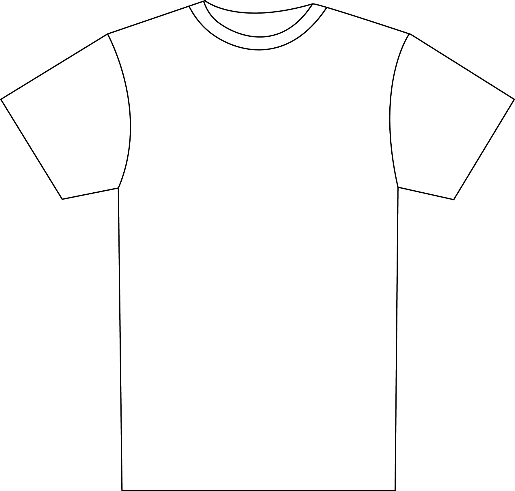 Transparent t-shirt clip art - Transparent Tshirt White T Shirt - Outline Of Football Shirt