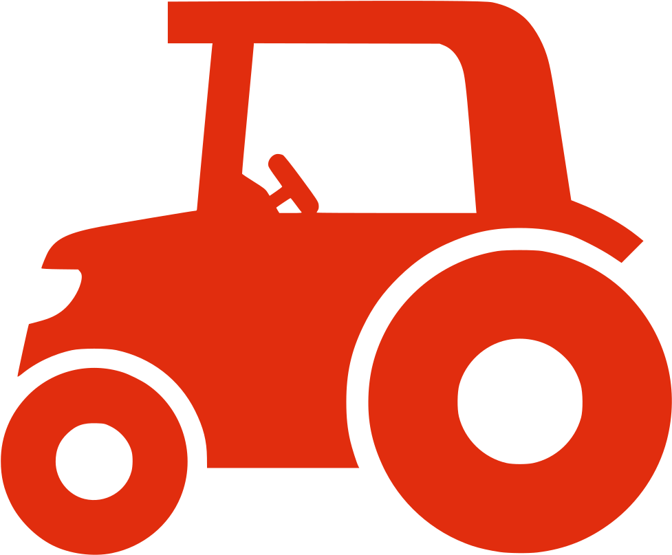 Transparent tractor clip art - Red Tractor Icon Png