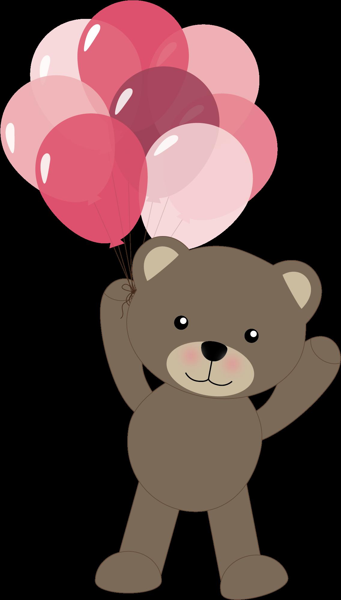 Transparent little brother clipart - B *✿* Clipart Oso, Cute Clipart, Urso Bear, Teddy - Teddy Bear Clipart With Balloons