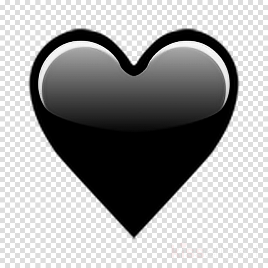 Transparent iphone clipart black and white - Black Love Emoji Clipart Emojipedia Heart - Iphone Transparent Heart Emoji Png