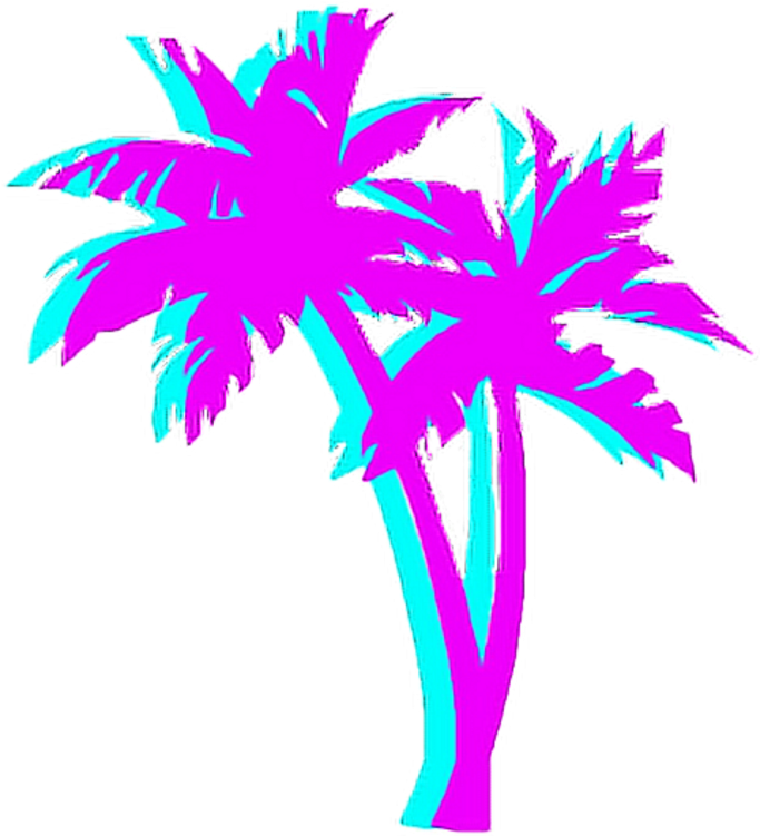 Tumblr Png Palm Tree - 80s Palm Tree Png , Transparent