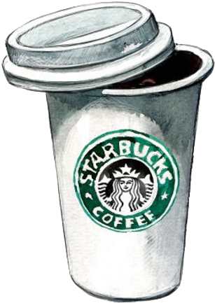 Coffee Tea Drink Boxes Frappxe9 Cafe Starbucks Starbucks Coffee Cup Sketch Transparent Cartoon Jing Fm