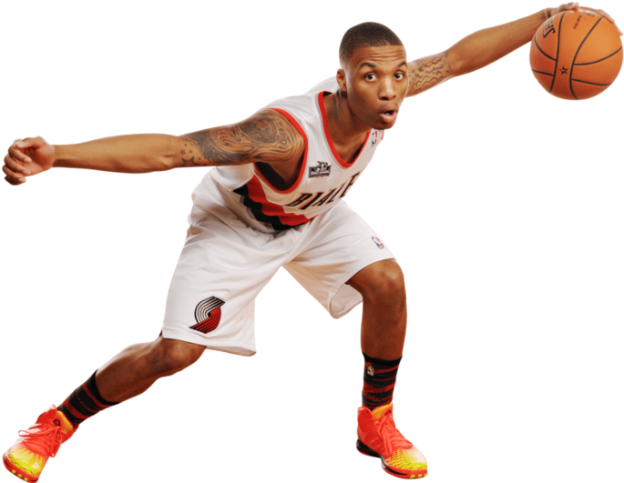 Transparent stephen curry clipart - Damian Lillard Arms Spread - Derrick Rose 3.5 On Game