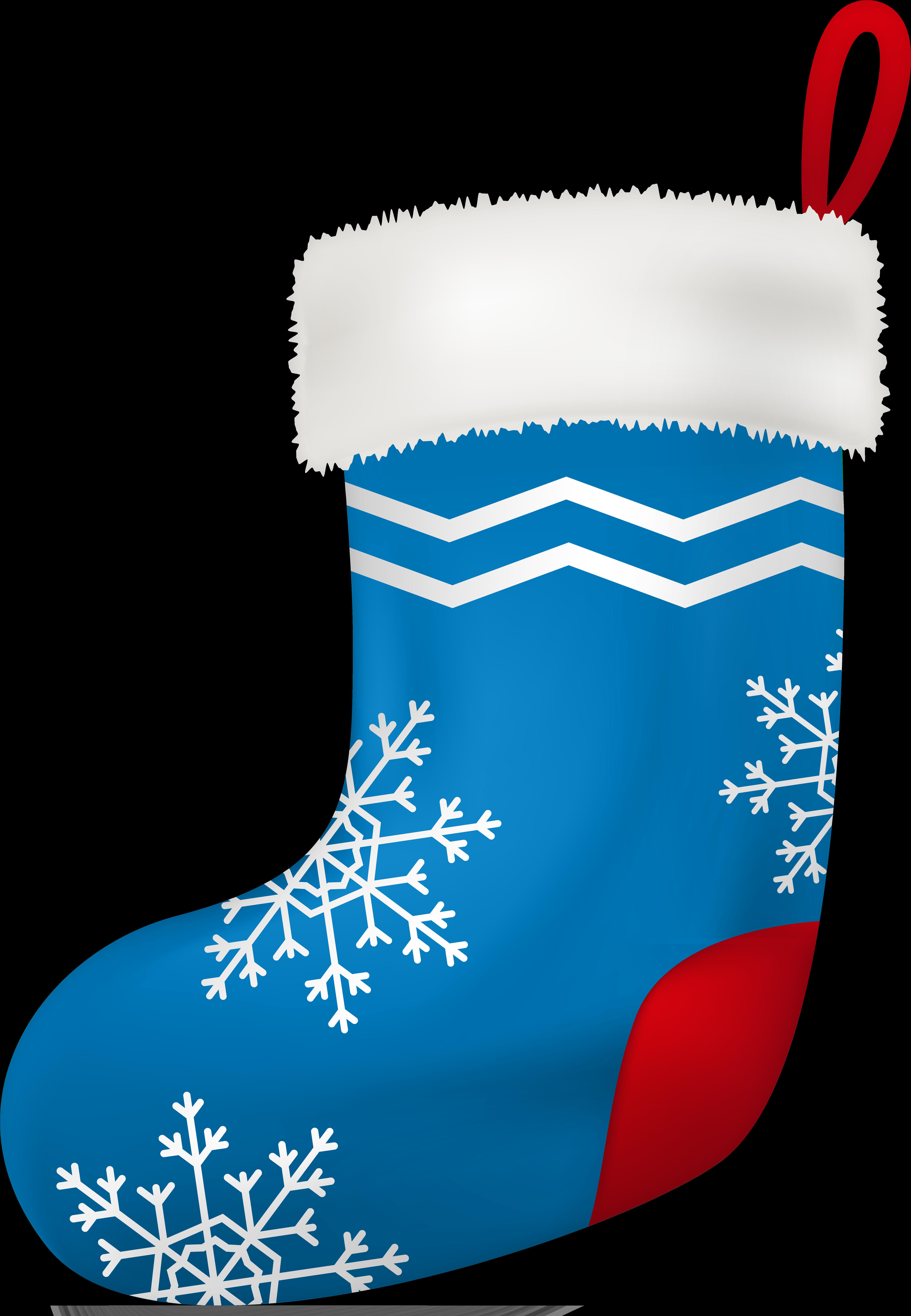 Transparent christmas stocking clipart black and white - Stocking Clipart Boot - Blue Christmas Stocking Clipart