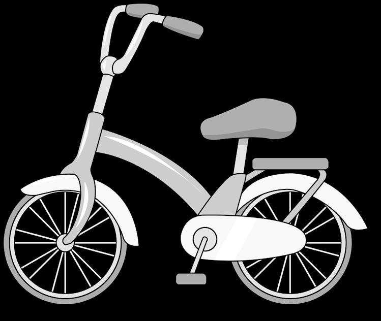 Free Black White Images Clip Art Bike Cartoon Transparent Cartoon Jing Fm