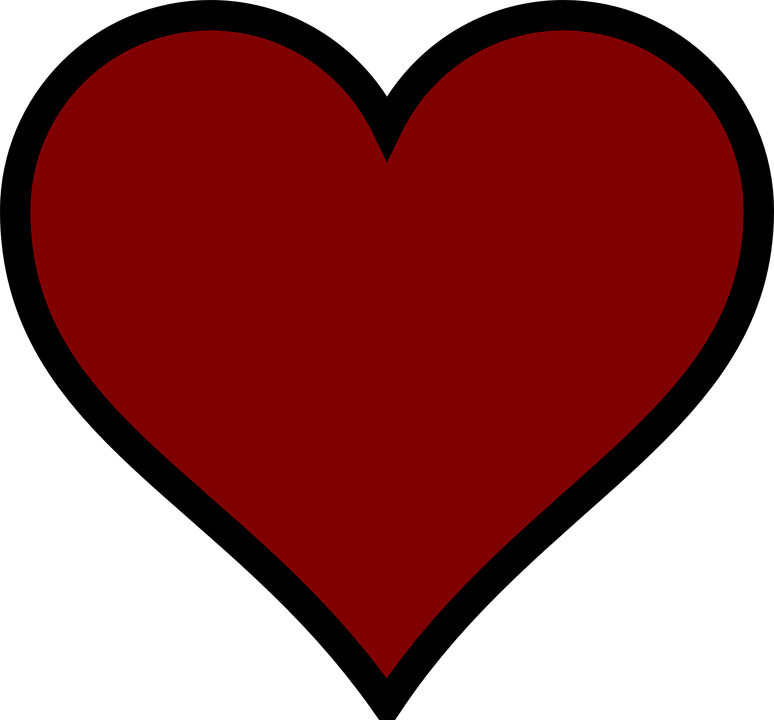 Transparent darkness clipart - Red, Heart, Dark - Coração Vermelho Fundo Transparente
