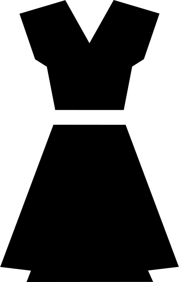 Black Dress Clipart Icon Transparent - Black Dress Icon
