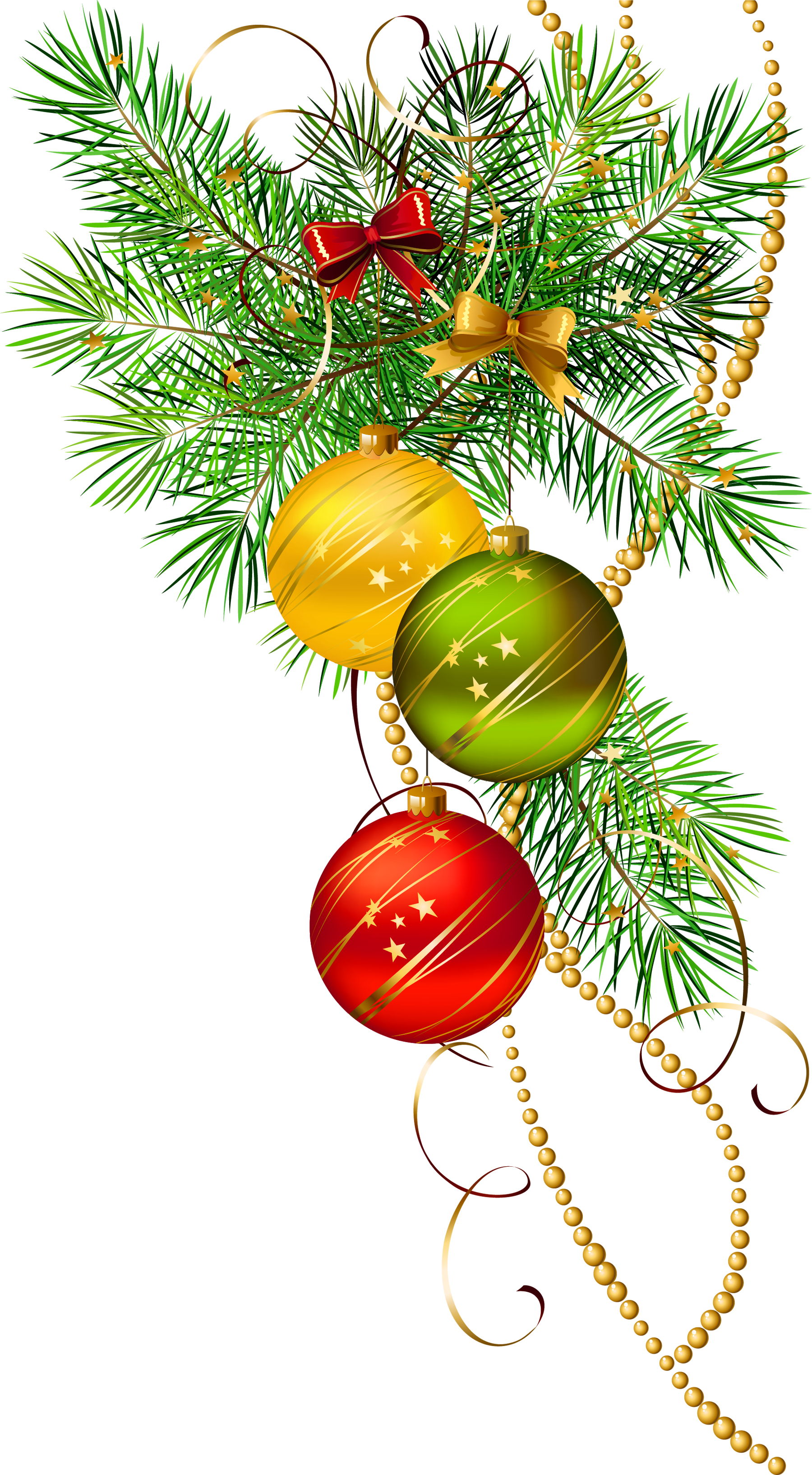Transparent pine clipart - Branch Holiday - Christmas Decor Vector Png