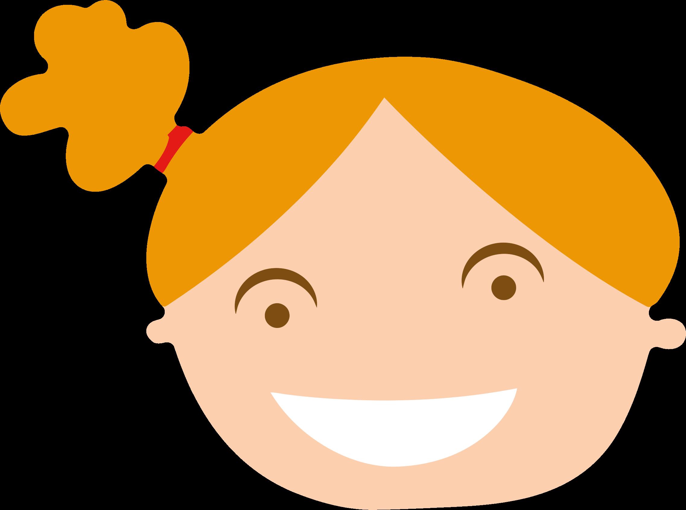 Transparent clipart frau - Funny Nose Clipart - Girl Head Clipart