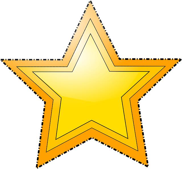 Transparent star shape clipart - Star, Shapes, Stars, Shape, Estrella, Geometry, Vector - Gold Star