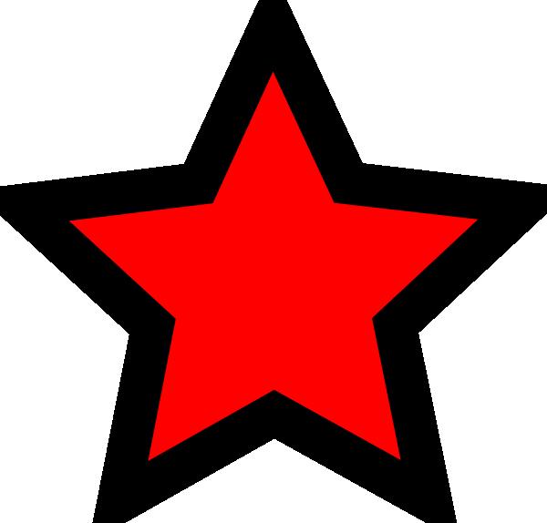 Transparent red star clipart - Star Svg Clip Arts 600 X 574 Px - Red Star Black Outline