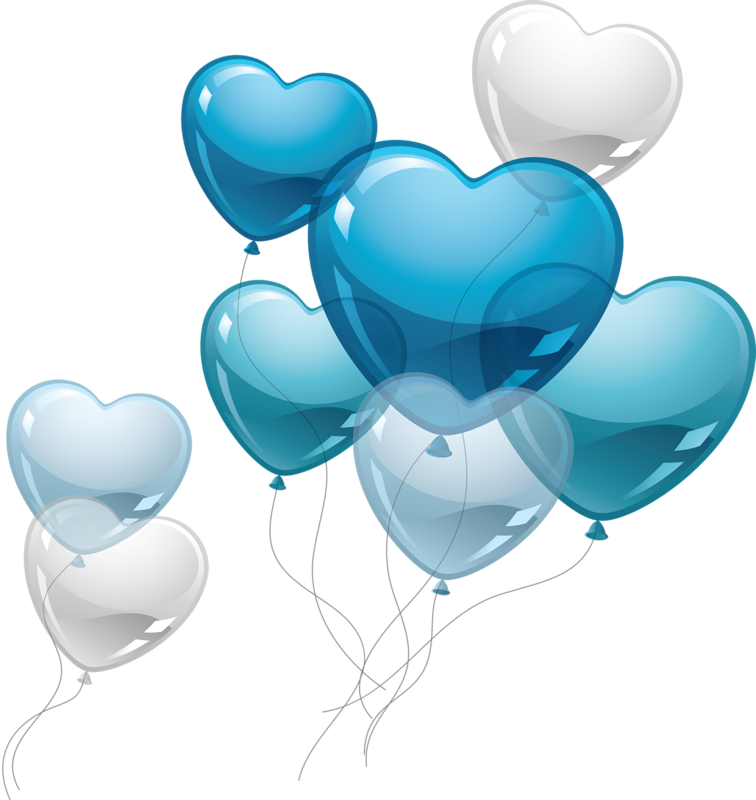 Transparent couple in love clipart - Love Clipart Blue - Birthday Balloons Png Blue