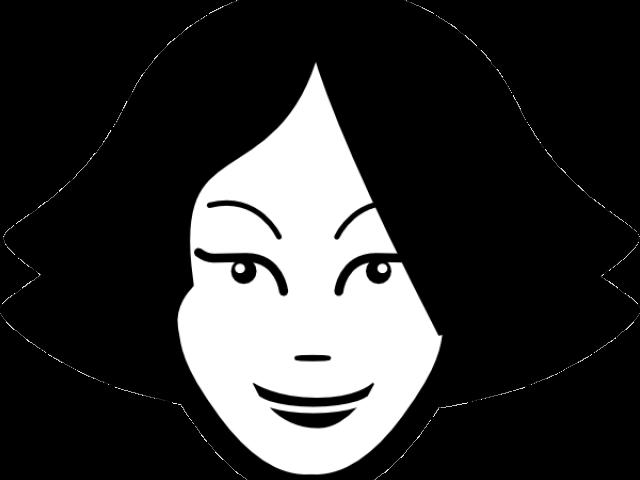 Transparent woman face clipart - Icon Visage Png