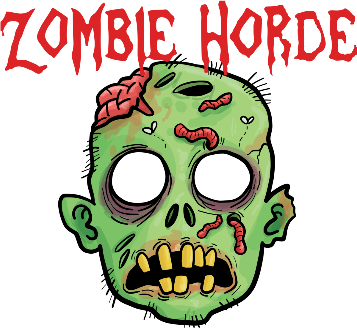 Transparent zombie clipart - Zombie Horde Png - Head Zombie Png