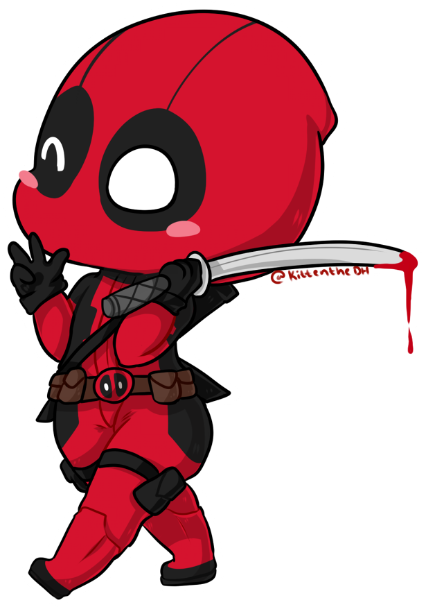 Deadpool Clipart Superhero Logos Chibi Dedpul Transparent Cartoon Jing Fm