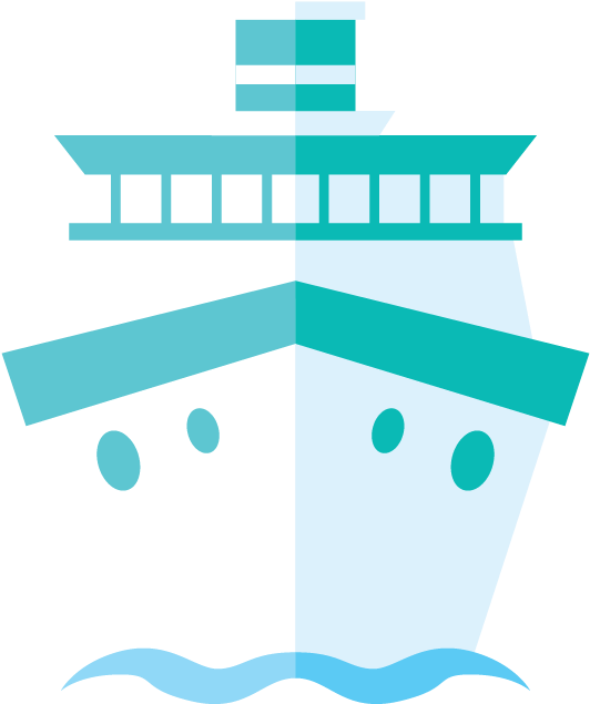 Transparent cruise ship clipart - Cruise Drawing Front Ship - Q 版 遊輪