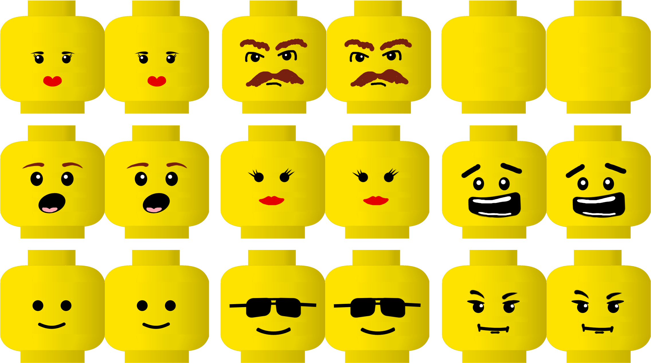 picture about Lego Face Printable identified as Lego Printable Functions - Lego Experience Png Clear