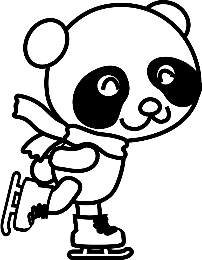 Transparent panda clip art - Christmas Panda Coloring Pages