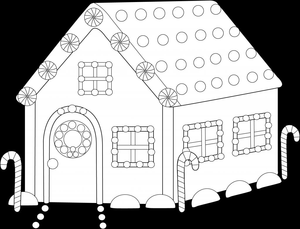 Pin Clipart Maison Gratuit Ginger Bread House Colouring Draft Transparent Cartoon Jing Fm