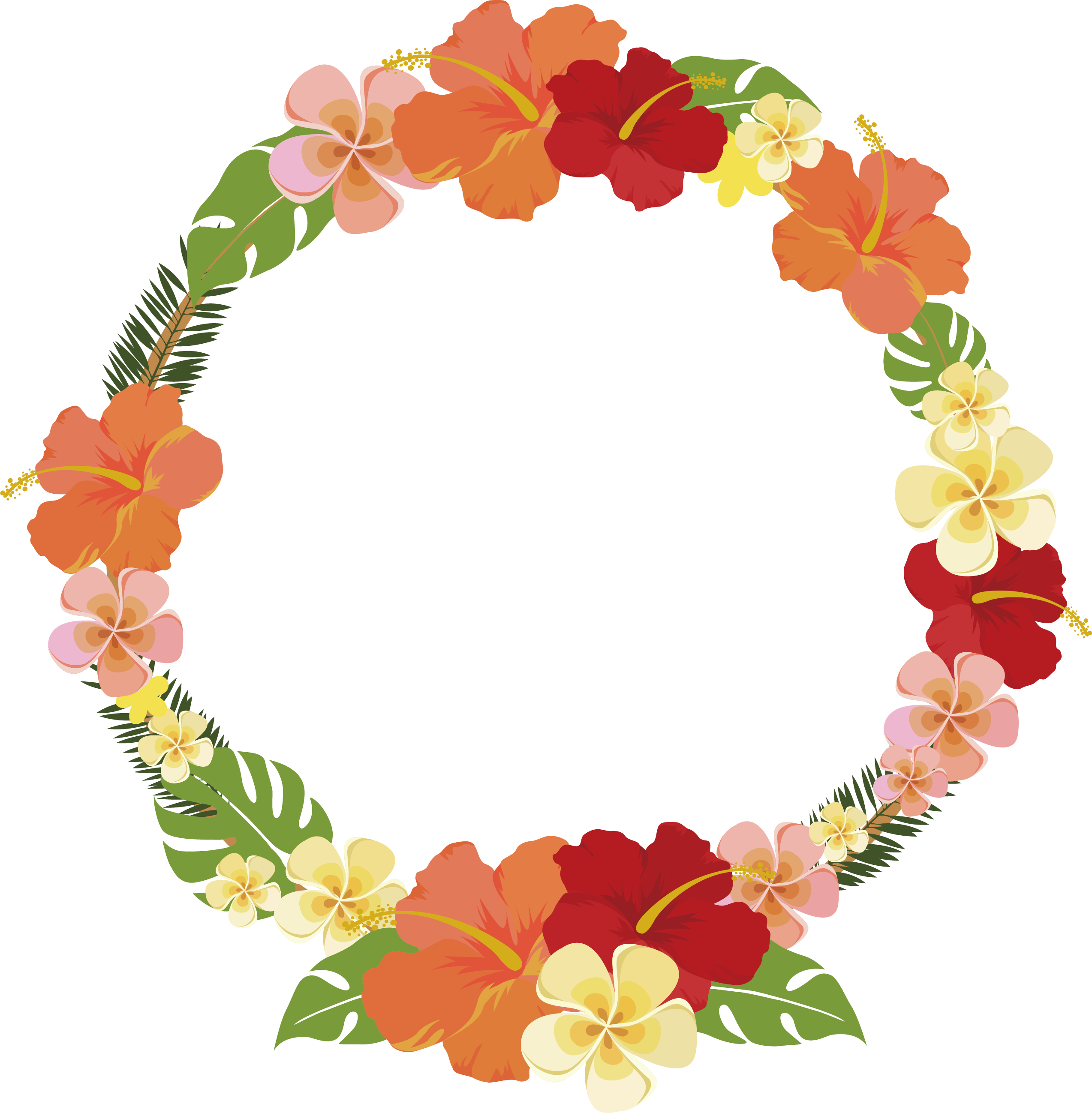 Transparent summer flowers clipart - Round Summer Flower Decorative Frame 2547*2597 Transprent - Round Flower Frame Png