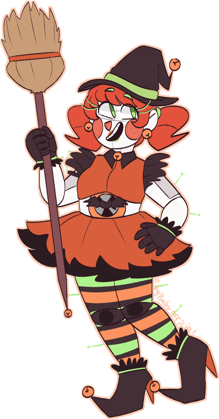 Transparent happy birthday sister clipart - A Halloween Baby To Celebrate Happy Birthday Sister - Circus Baby Fnaf Cute