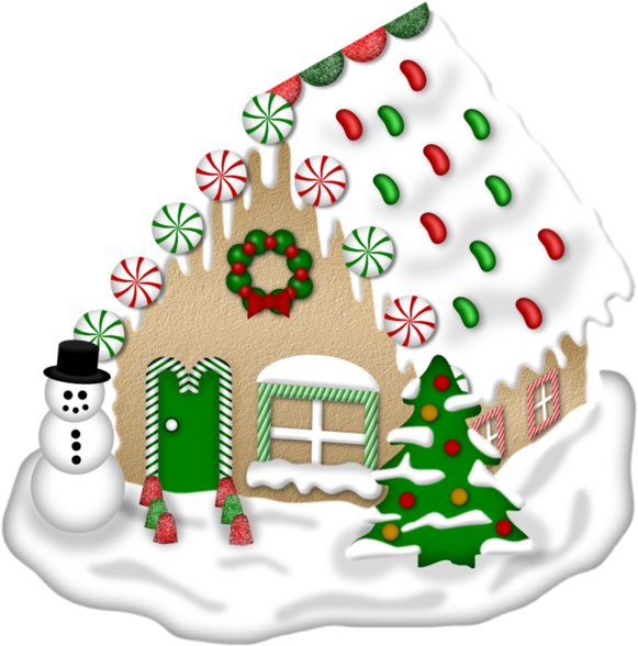 Transparent gingerbread house clipart - Drawing Candy Gingerbread House - House Christmas Winter Clipart