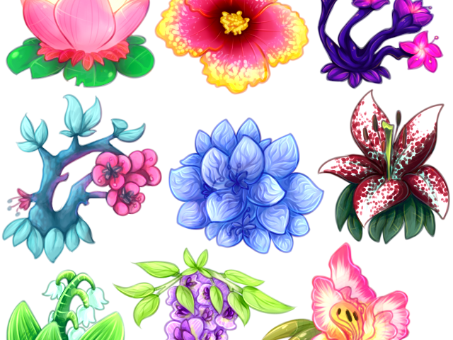 Aesthetic Clipart Flower Aesthetic Flower Drawing Transparent Cartoon Jing Fm