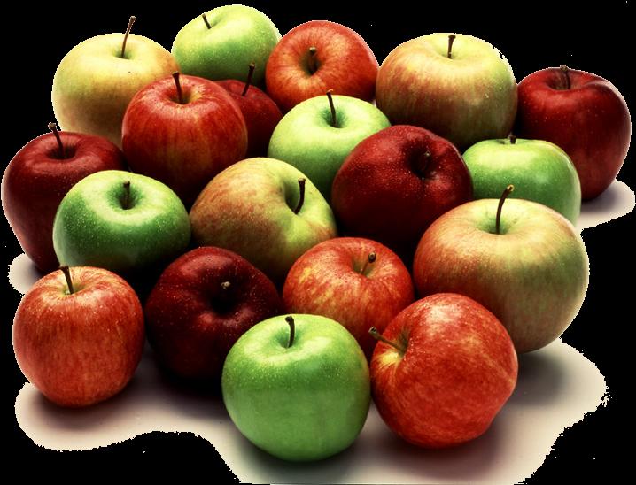 Transparent apple fruit clipart - Lot Apples