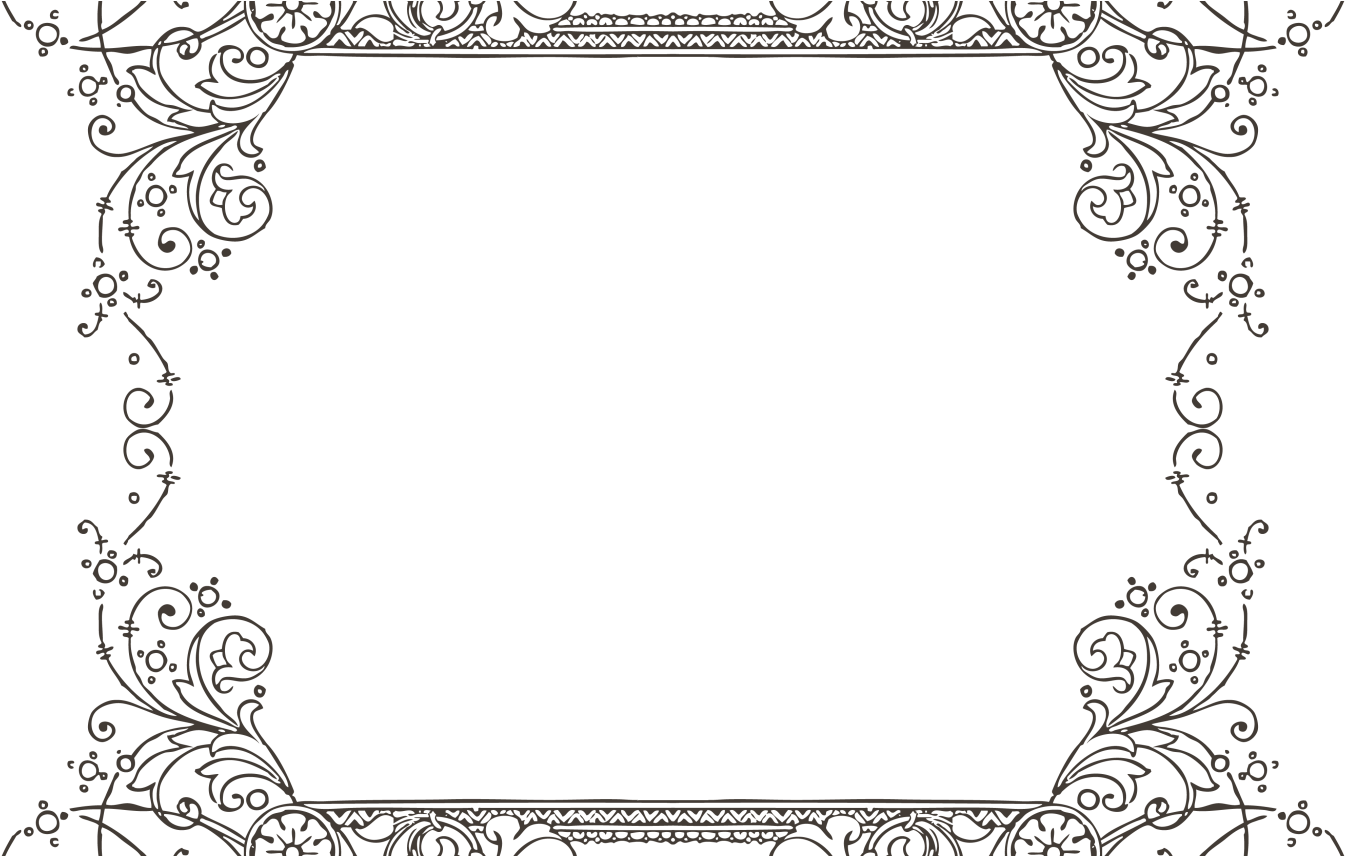 Gorgeus Clipart Decorative Frame Pencil And In Color Border For