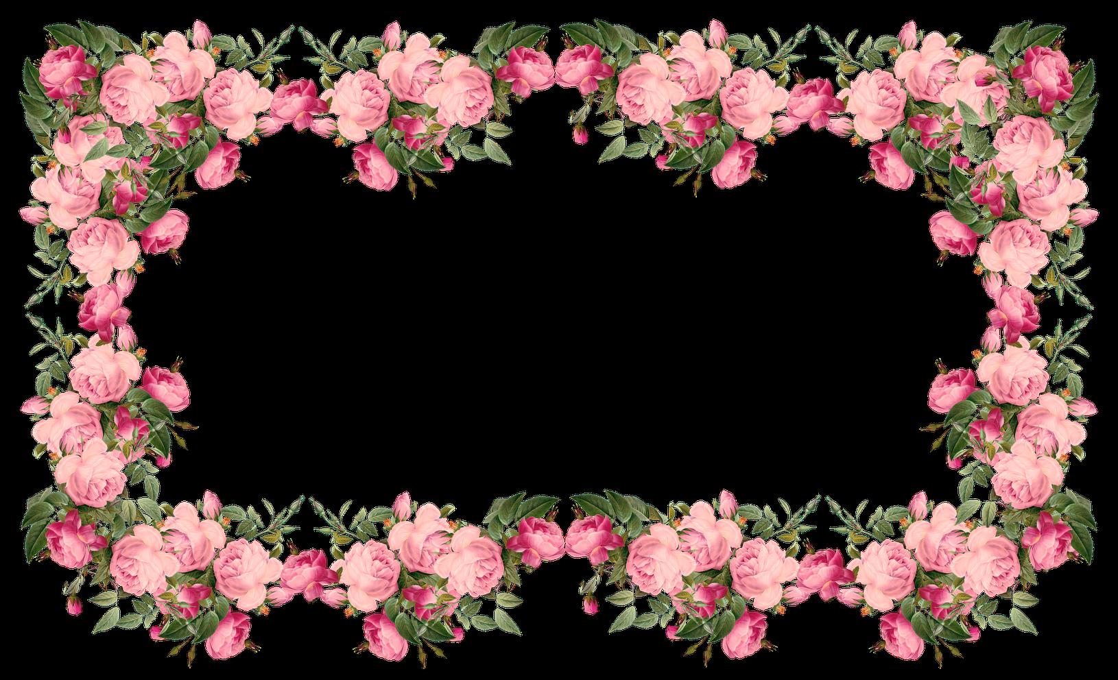 Transparent pink border clipart - Awesome Vintage Pink Frames And Border Png U Pics For - Decorative Border Design Flower