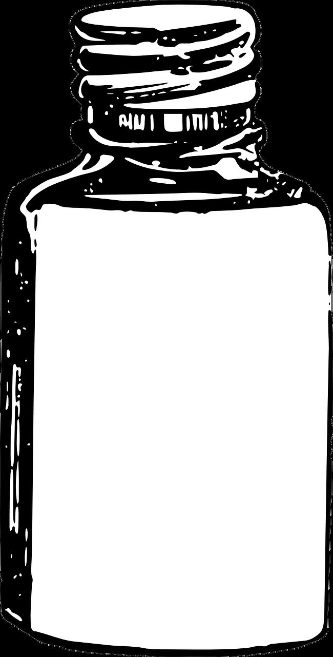 Transparent pill clipart - Pharmaceutical Drug Tablet Medical Prescription Clip - Pill Bottle Clipart Black And White
