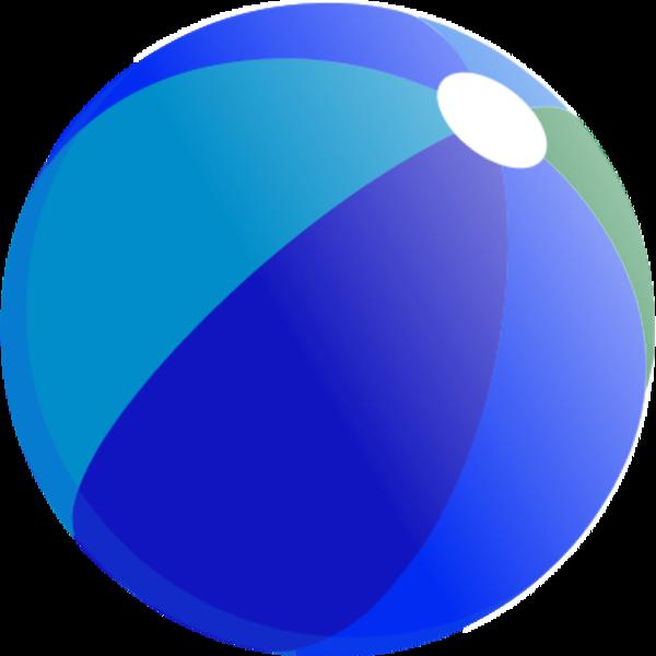 Transparent beach ball clip art - Beach Ball Blue Png
