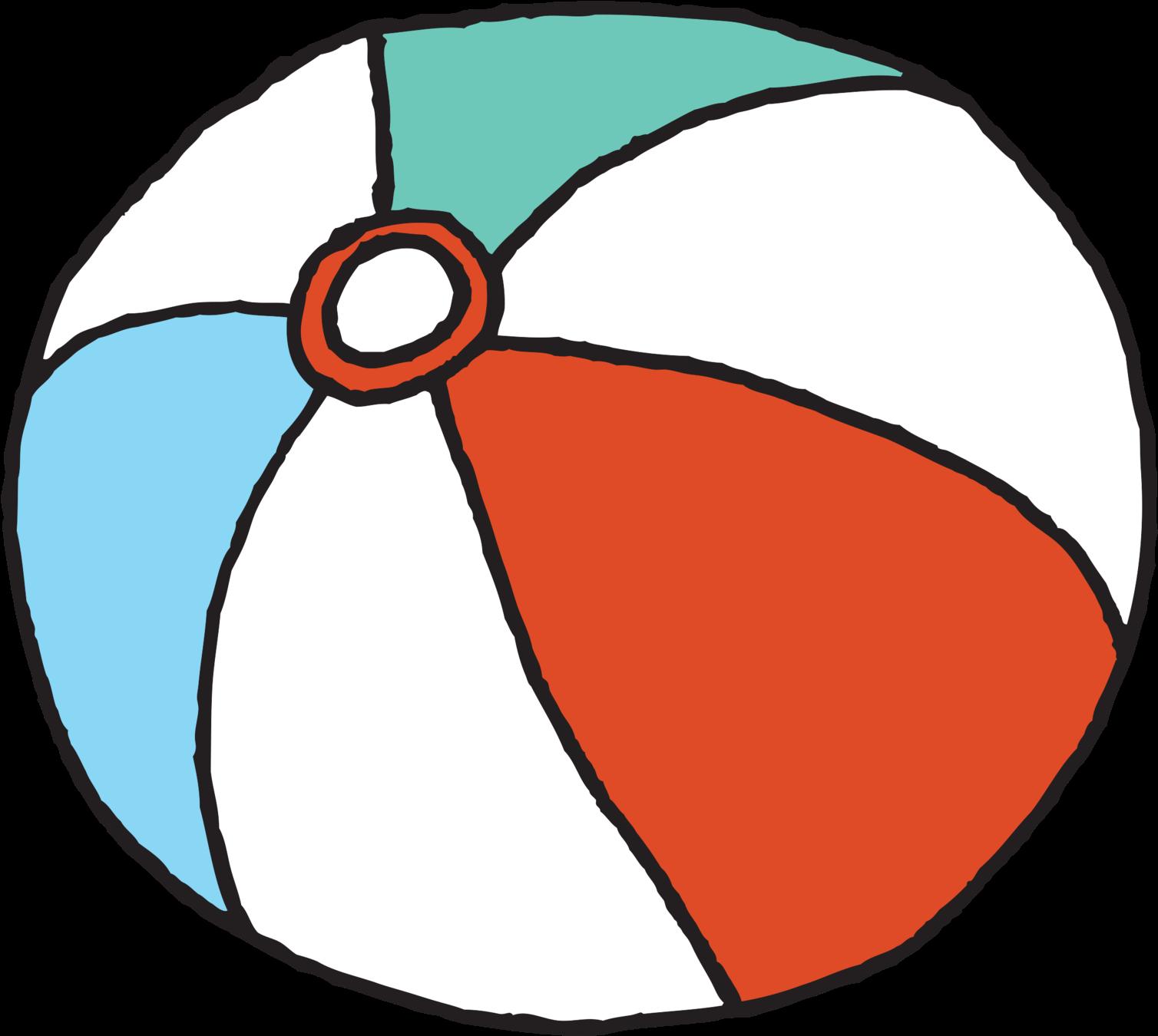 Transparent beach ball clip art - Cartoon Beach Ball Png