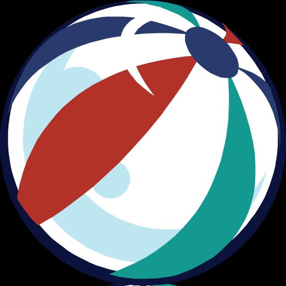 Transparent beach ball clip art - Beach Ball Clipart August Beach - Beach Ball