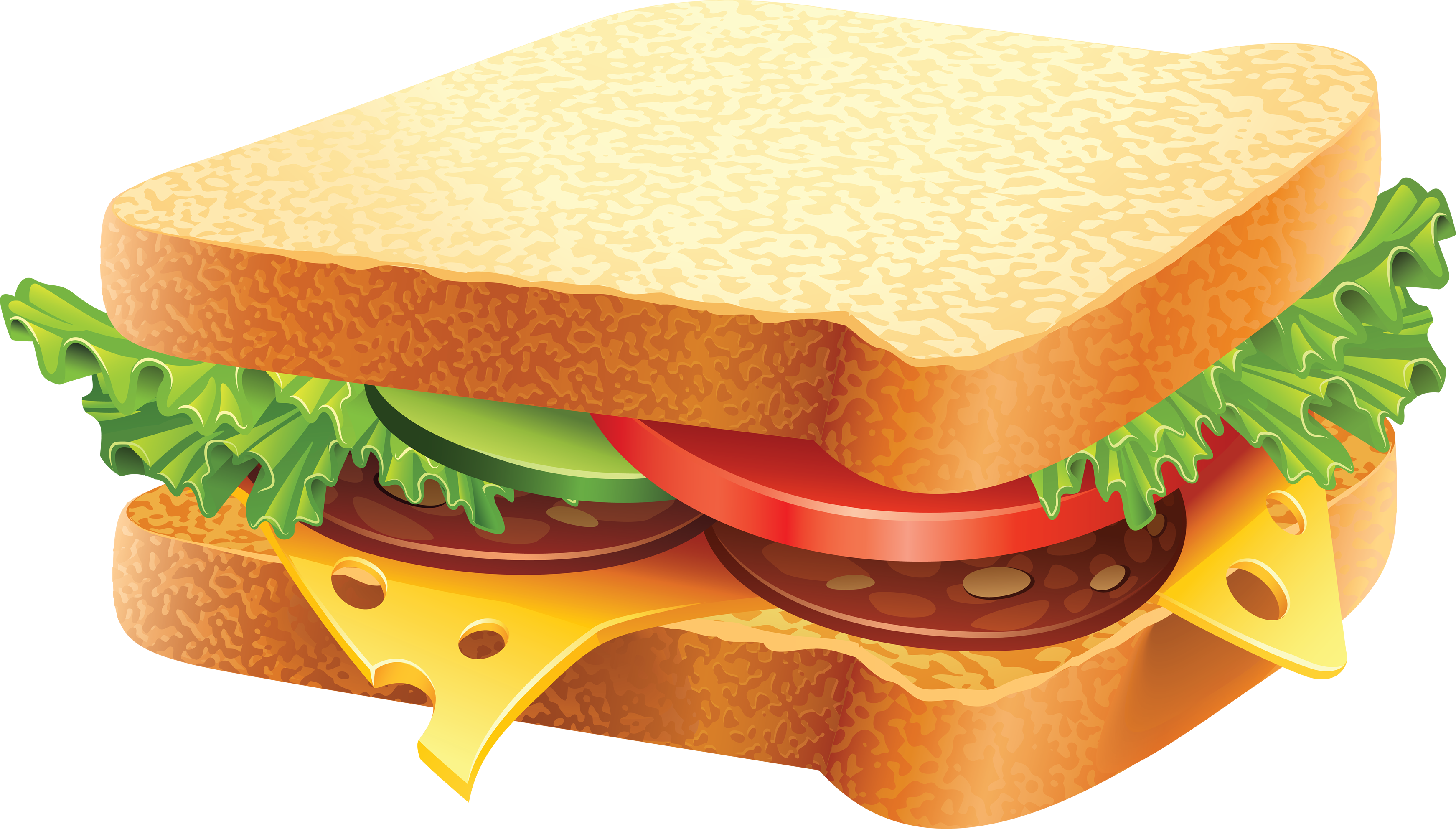 Sandwich Clip Art Free - Sandwiches Vector , Transparent Cartoon - Jing.fm