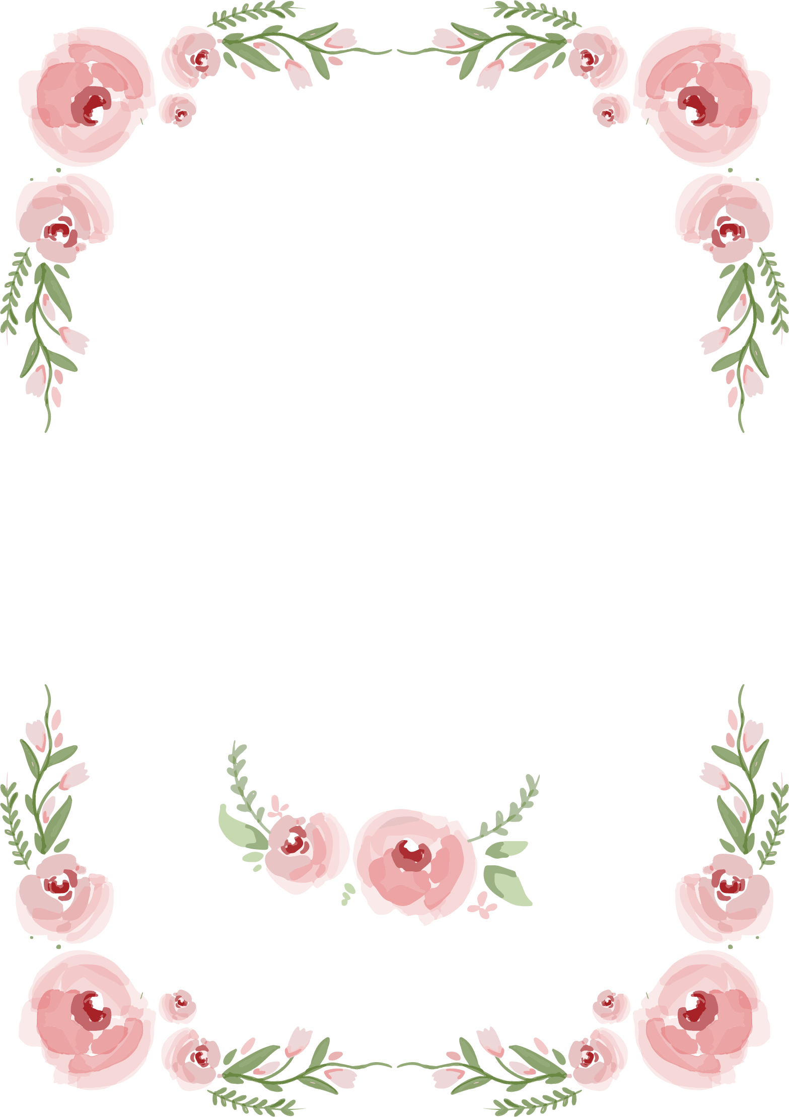 Transparent wedding hand clipart - And Painted Rose Wedding Hand Roses Invitation Clipart - Wedding Flowers Png Border