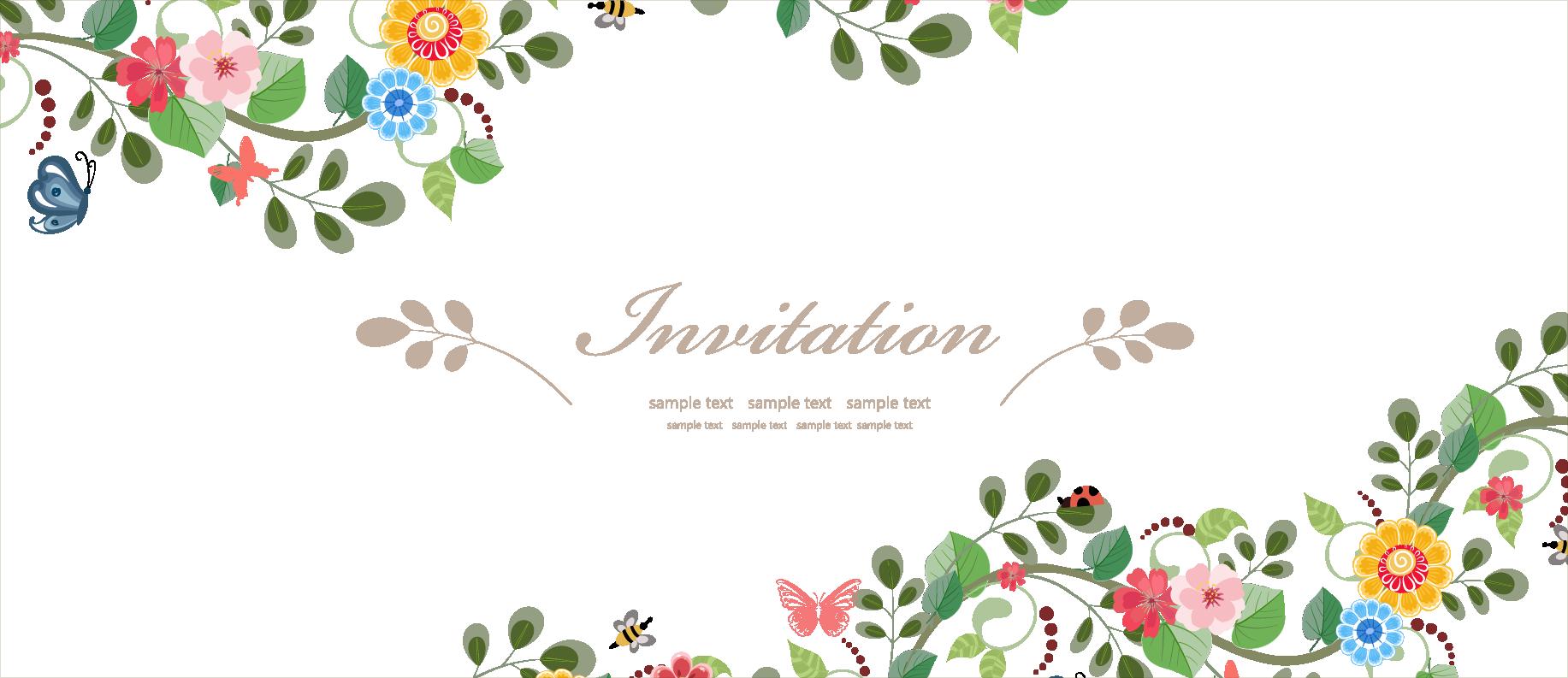 Transparent wedding flower clipart - Wedding Invitation Flower Euclidean Vector - Flower Invitation Vector Free