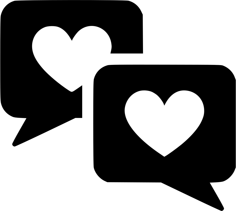 Couple Chat Message Svg Png Icon Free Ⓒ - Love Relationship